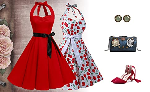 The 50s vintage rockabilly pin-up swing dresses greatly perfect for prom, bridesmaid, wedding party, evening party, birthday party, formal party, ...