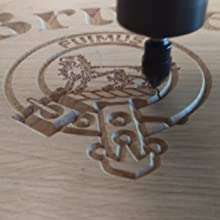 This is an image of our cnc engraving machine carving a customers house sign