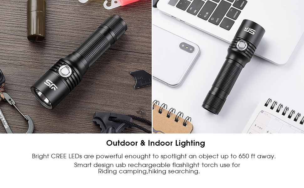 LED Torch,USB Rechargeable Tactical Flashlight,Super Bright Led Torch XML2 800 Lumens Pocket Torch,5 Modes,IPX6 Waterfproof for Camping Hiking,with 18650 Battery JS LED Torch, Rechargeable LED Torch at smart-join.com LED Torch