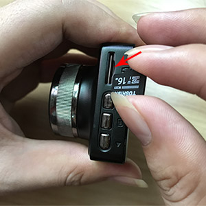 How to Insert the SD Card
