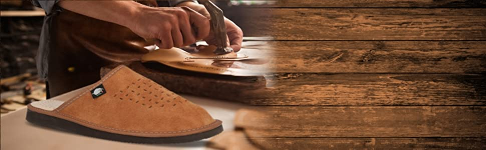 Foothugs Men's Suede Leather Slippers - Our Story