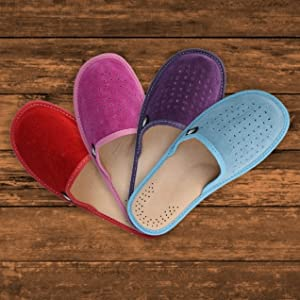 Women's Suede Slippers variations