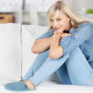 women's suede slippers