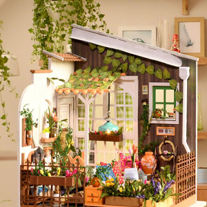 ROBOTIME Wooden Bedroom Dolls House Furniture and Accessories