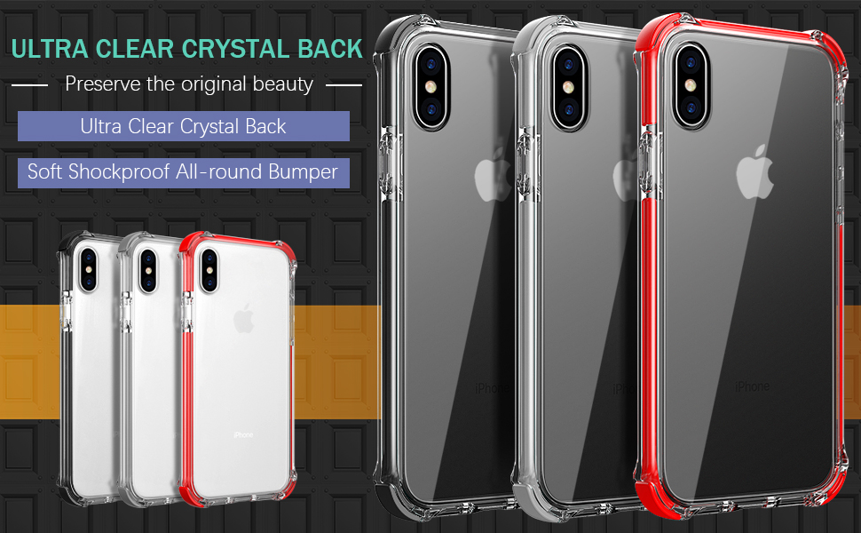 MATEPROX iPhone Xs Max case clear fashion simple protective anti yellow