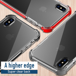 iPhone X case iPhone 10 Case MATEPROX Shield Protective Anti-Yellow/Anti-Scratch/Clear/Shockproof