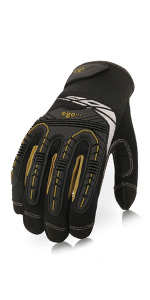 Laborsing Safety Products Inc. Vgo High Dexterity Heavy Duty Mechanic Glove,Rigger Glove Anti-vibration,Anti-abrasion,Touchscreen,1Pair, Size XXL, Black, SL8849