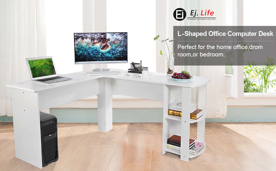 This Desk Fits Snuggly In A Corner To Maximize Your Home Office Space. The  Large Desk Top Surface Provides Plenty Of Room For Your Monitor Or Laptop,  ...