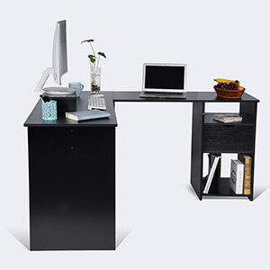 Maximize Your Home Office Space With Ej. Life L Shaped Desk! This Corner  Desk Fits Perfectly In The Corner Or Up Against Any Wall.