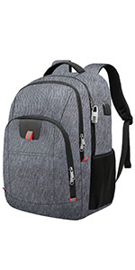 laptop backpack grey