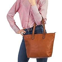 Faux Leather Practical Tan color