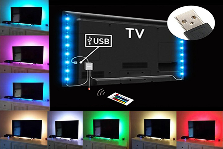 2pc 50cm RGB USB LED MOOD LIGHTS HOME THEATRE TV BACKLIGHT STRIP