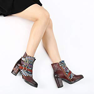 2c7ab10102e gracosy Women s Leather Ankle Bootie Shoes Winter Warm Snow Boots ...