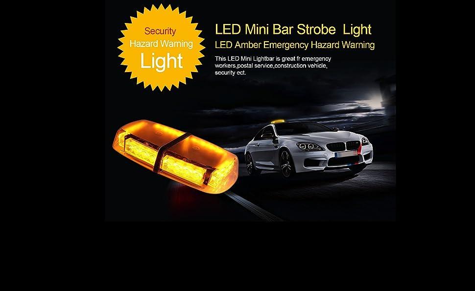 Discoball Led Strobe Warning Light 12v 24 Led Amber