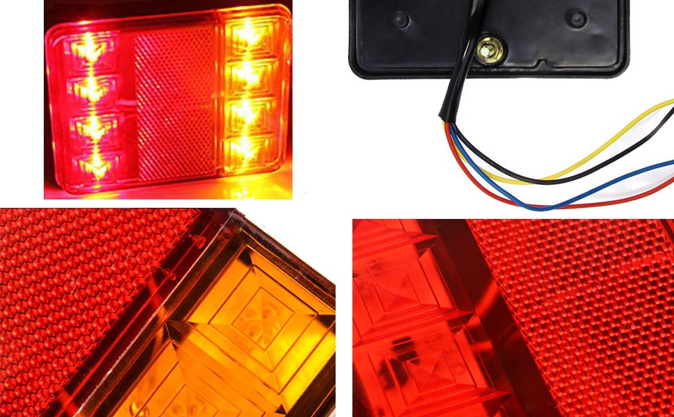discoball universal 2x8 led trailer rear light board tail brake rh amazon co uk