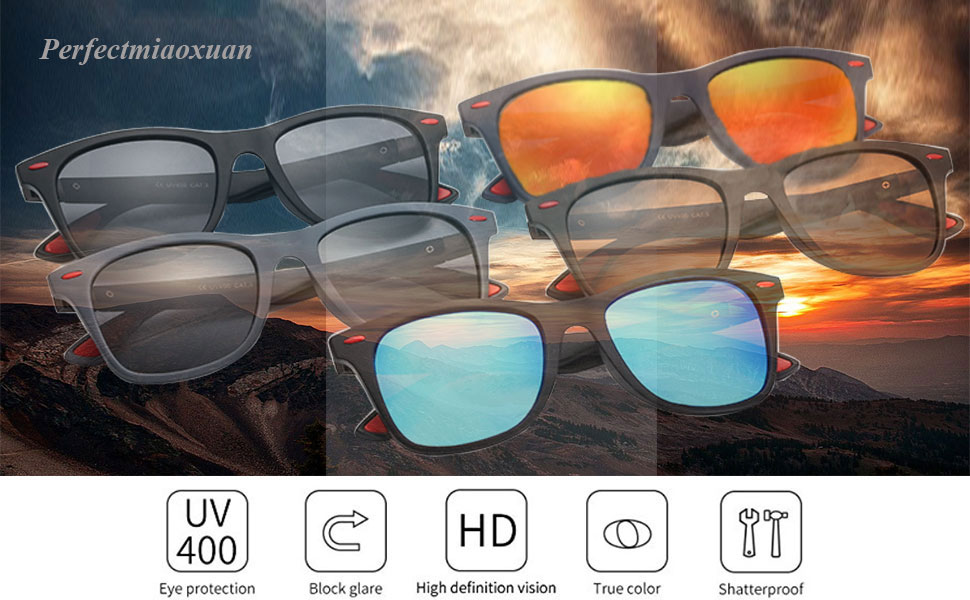Polarised lens sunglasses for men women