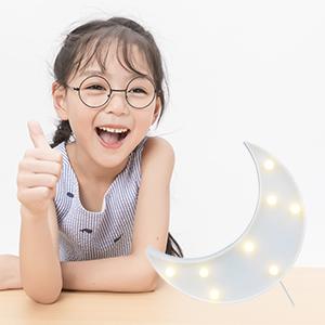 63329cc6f Vimlits Lovely Moon LED Night Lights Warm White 8 LED Lights for ...