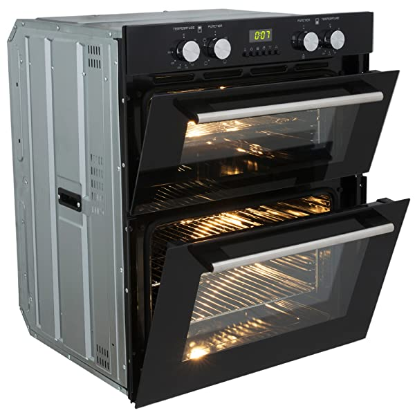Built In Double Fan Oven Part - 18: SIA DO101 Built Under Double Fan Electric Oven With Programmable Digital  Timer