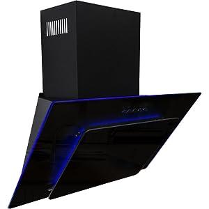 Sia Age91bl 90cm 3 Colour Led Edge Lit Black Angled Glass