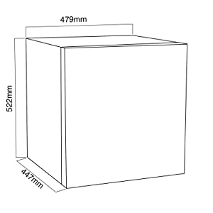 47L Counter Table Top Mini Drinks Fridge With Ice Box In White A+ Energy Rating Student Flat Bedroom