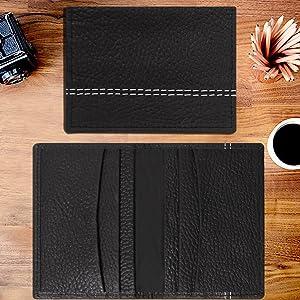 5bfd23ef2647 leather credit card holder cards case wallets for men slim debit business  minimalist micro rfid