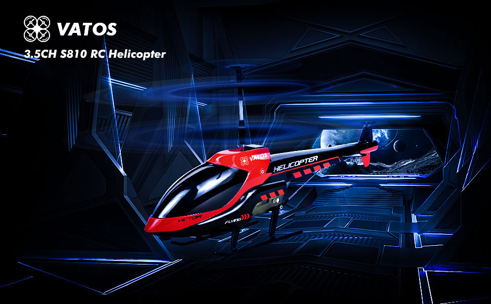 VATOS Remote Control Helicopter Indoor RC Helicopter 3 5 Channels Hobby  Mini RC Flying Helicopter 2 Replace Blades Included Gift for Kids Built-in