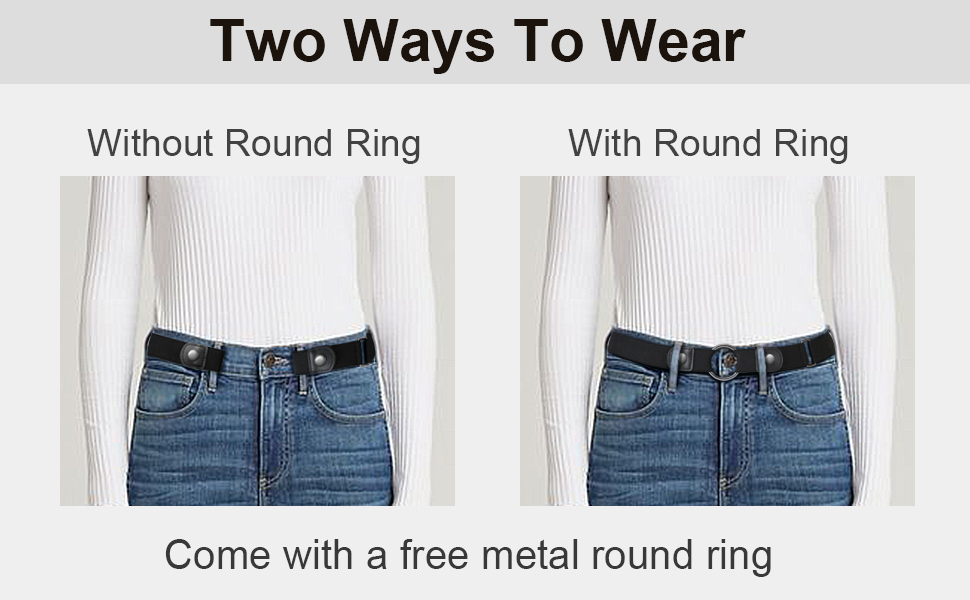 No Buckle Ladies Elastic Belt for Women Mens Invisible Jeans Pants Dress Stretch Waist Belt up to 48