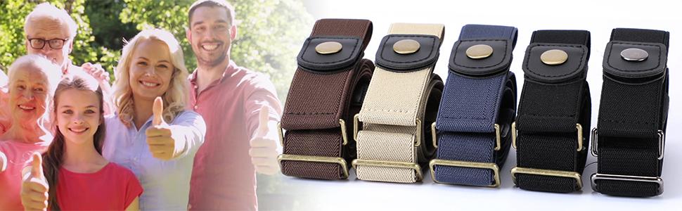 elastic belt ladies stretch waist belt is great for all families no buckle belt black belt blue belt