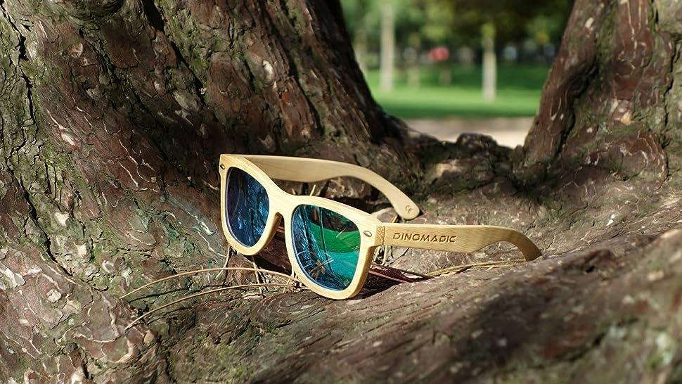 4e8b3ebee0 Polarized   Floating Bamboo Wood Sunglasses for Men   Women