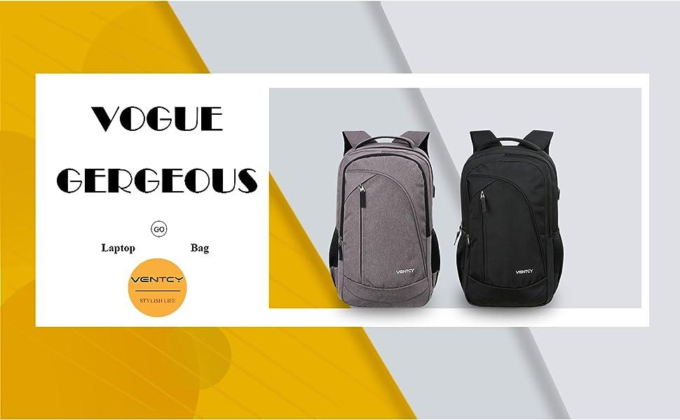 VENTCY 15.6 Inch Laptop Backpack Womens Mens Rucksack Boys Backpack ... 96849b5f82