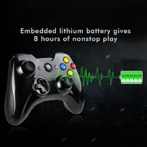 2.4G Wireless Controller for PS3, PC Gamepads with Vibration Fire Button Range up to 10m Support PC