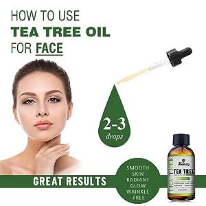 Essential Tea Tree oil for face