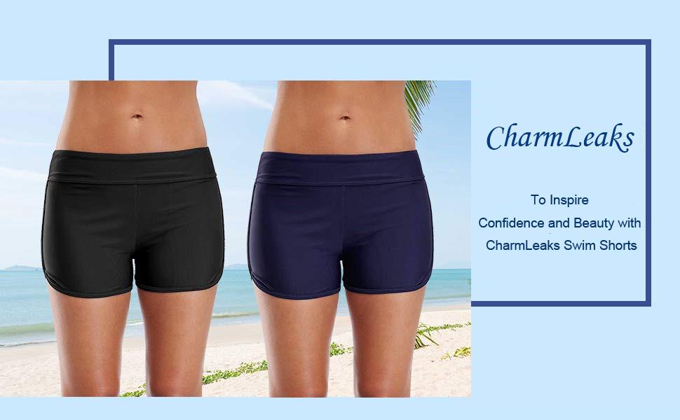 CharmLeaks Womens Surf Swim Shorts Swimming Boardshorts Costume Swimsuits