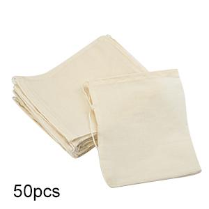 50 Pack Cotton Muslin Bags