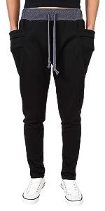 Men's Casual Jogger Pockets Pants Sweatpants