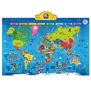 child the gift of learning with this wonderful interactive and educational map includes over 1000 amazing facts about different countries of the world