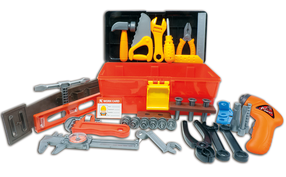 Tools Toys R Us : Deluxe toy tool set for toddlers tg fun box kit