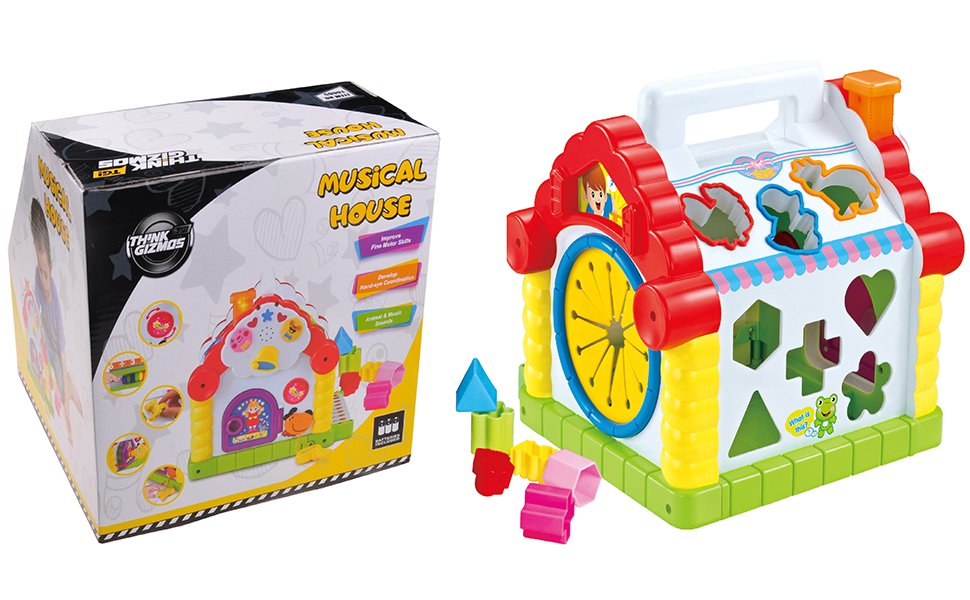 Musical Toys For Toddlers : Musical house learning toy for toddlers tg665 childrens musical