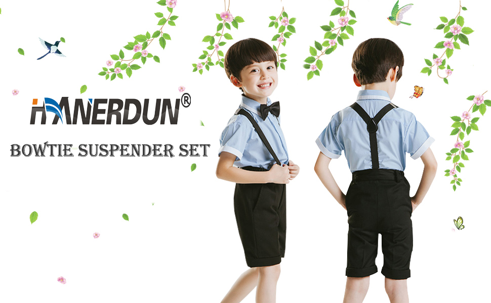 7eb55995f797 HANERDUN bowtie and suspender sets can be the accessory of any uniforms,  which becomes the favourite clothing accesories of kids or baby actors on  stage.