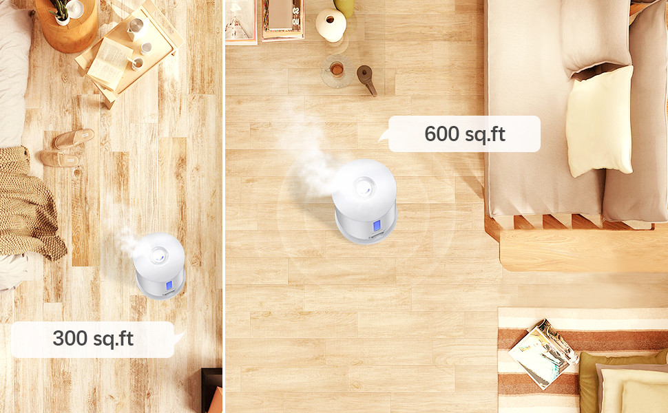 Housmile Ultrasonic Cool Mist Humidifier with 3.5L Large Water Tank Capacity and 10+ Hours Use, No Noise Diffuser Air Purifier Pure Humidifier for