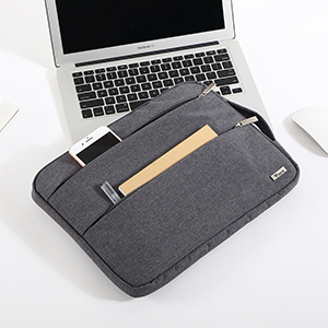 laptop sleeve case with 2 side pockets