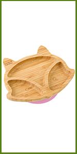 bamboo fox plate