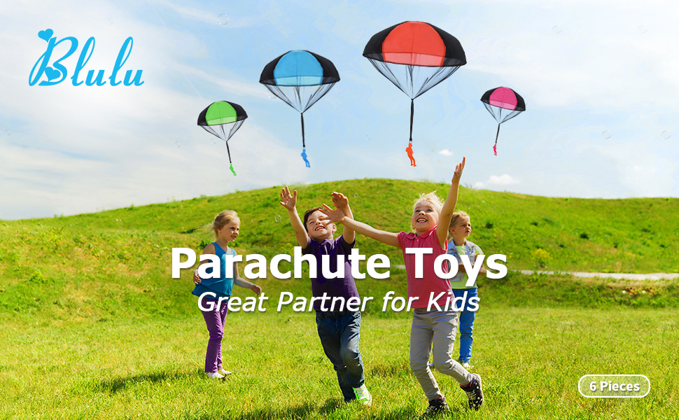3pcs Tangle Free Parachute Skydiver Kite Outdoor Kid Toy Party Favor Filler