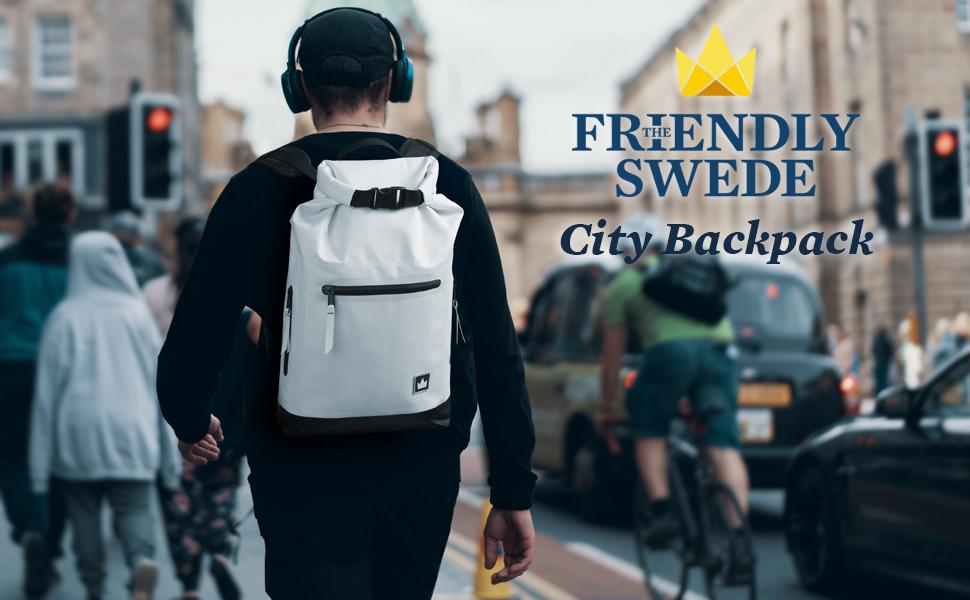 laptop backpack city street style, dry bag waterproof