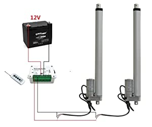 "2 Set 12V 4/"" 100m Linear Actuator W// Remote Control for Metallurgy Mine Industry"