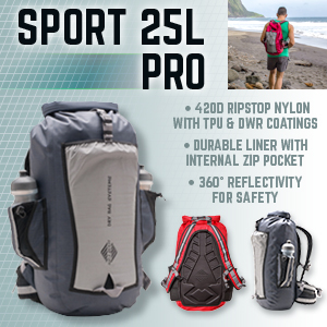 d48aa05e3b3c Aqua Quest SPORT 25 PRO Grey Waterproof Backpack with Roll Top to ...