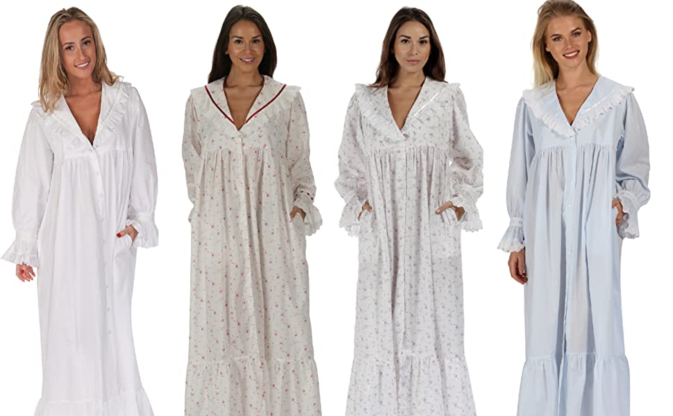 The 1 for U 100/% Cotton Dressing Gown//Housecoat Rosalind