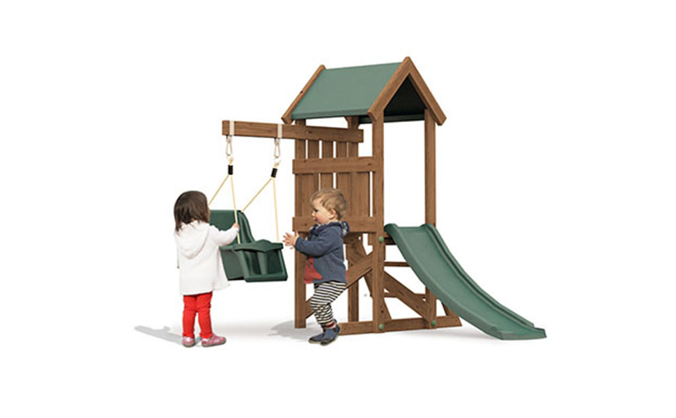 Dunster House Wooden Toddlers Outdoor Climbing Frame Baby Swing ...