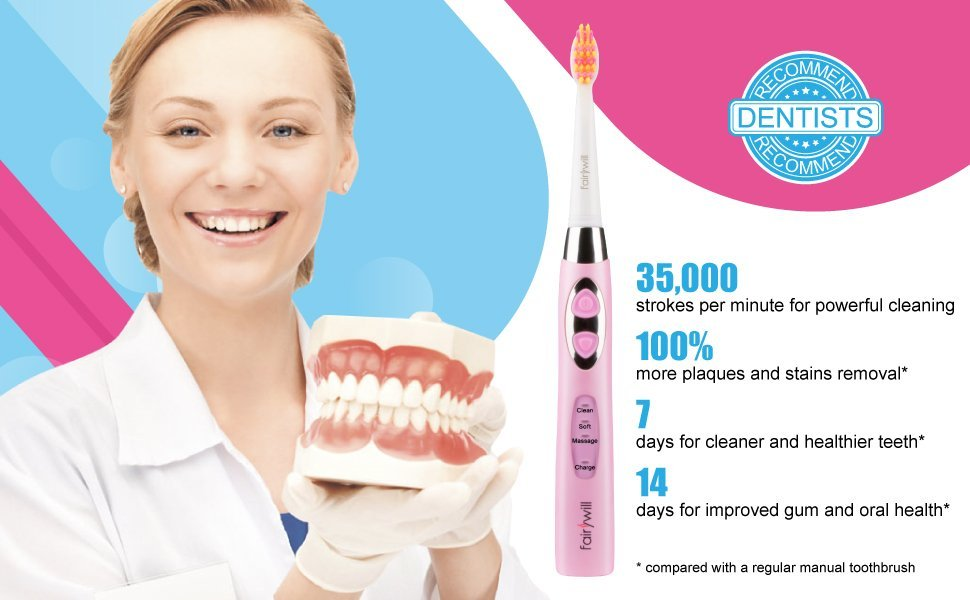 Electric Toothbrush Clean Your Teeth like a Dentist Rechargeable 4 ...