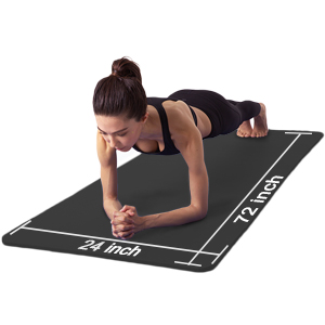 ATIVAFIT Yoga Exercise Floor Mat Large Padded Extra Thick 12mm Non-Slip Pilates Workout Exercise Mat With Carry Straps